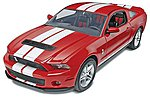 2010 Ford Shelby GT500 -- Plastic Model Car Kit -- 1/25 Scale -- #854938