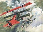 Fokker DR I BiPlane -- Plastic Model Airplane Kit -- 1/72 Scale -- #10