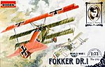 Fokker Dr.I Triplane -- Plastic Model Airplane Kit -- 1/72 Scale -- #rd0010