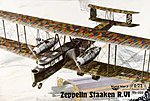 Zeppelin Staaken R.VI -- Plastic Model Airplane Kit -- 1/72 Scale -- #rd0055