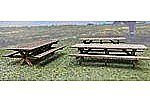 Picnic Tables 6 Pack Kit -- HO Scale Model Railroad Building Accessory -- #2515