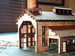 Engine House without Doors Kit -- N Scale Model Railroad Building -- #3004