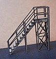 Stairs with Handrail Kit -- N Scale Model Railroad Building Accessory -- #3509