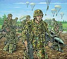 German Paratroopers Modern -- Plastic Model Military Figure Kit -- 1/72 Scale -- #02521