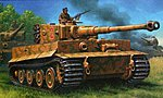 PzKpfw IV Tiger I Ausf E Tank (Late) -- Plastic Model Military Vehicle Kit -- 1/72 Scale -- #03116