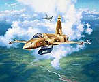F-5E Tiger -- Plastic Model Airplane Kit -- 1/144 Scale -- #03947