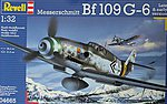 Messerschmitt Bf109G6 Fighter -- Plastic Model Airplane Kit -- 1/32 Scale -- #04665