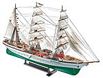 Gorch Fock Sailing Ship -- Plastic Model Military Ship Kit -- 1/253 Scale -- #05412