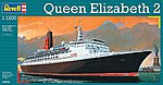 Queen Elizabeth II -- Plastic Model Commercial Ship Kit -- 1/1200 Scale -- #05806