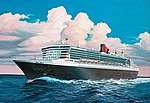 Queen Mary 2 Ocean Liner -- Plastic Model Commercial Ship Kit -- 1/1200 Scale -- #05808