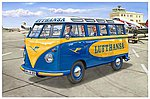 VW T1 Samba Bus Lufthansa -- 1/24 Scale Plastic Model Vehicle Kit -- #07436