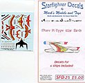 Star Trek R-Type Warbirds Markings for 6 Ships -- Plastic Model Aircraft Decal -- #25