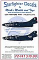 F9F2/F9F3 USN Panthers Killer Cats Pt.1 for HBO -- Plastic Model Aircraft Decal -- 1/72 -- #72141