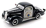 1936 Highway Patrol Pontiac Deluxe Police Car (Re-Issue) -- Diecast Model -- 1/18 -- #18140