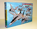 US Carrier Base Aircraft Set -- Plastic Model Airplane Kit -- 1/700 Scale -- #s12