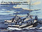 US Navy Ships Camouflage WWI Part 1 Destroyers -- Authentic Scale Model Boat Book -- #6099