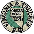 Virginia & Truckee (Queen of the Short Lines, Green, White) 2'' -- Cloth Railroad Patch -- #71092