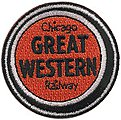 Chicago Great Western (Lucky Strike, Orange, Black, White) 2'' -- Cloth Railroad Patch -- #72017