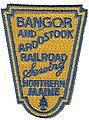 Bangor & Aroostook (Shield, Yellow, Blue) 2-3/8'' Vertical -- Cloth Railroad Patch -- #73005