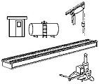Diesel Maintenance Facility for Yard -- Model Railroad Building Accessory -- N Scale -- #1211
