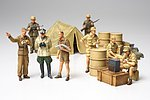 German Africa Corps Infantry Set -- Plastic Model Military Vehicle Kit -- 1/48 Scale -- #32561