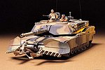 US M1A1 w/Mine Plow Tank -- Plastic Model Military Vehicle Kit -- 1/35 Scale -- #35158