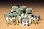 German Fuel Drum Set -- Plastic Model Military Diorama Kit -- 1/35 Scale -- #35186