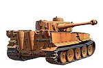 German Tiger I Initial Tank -- Plastic Model Military Vehicle Kit -- 1/35 Scale -- #35227