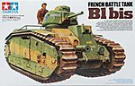 French Battle Tank B1 bis -- Plastic Model Military Vehicle Kit -- 1/35 Scale -- #35282