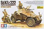 Sd.Kfz.222 North Africa -- Plastic Model Military Vehicle Kit -- 1/35 Scale -- #35286
