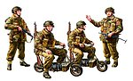 British Paratroopers w/Small Motorcycle -- Plastic Model Military Figures -- 1/35 Scale -- #35337