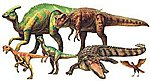 Mesozoic Dinosaur Creatures -- Plastic Model Dinosaur Kit -- 1/35 Scale -- #60107