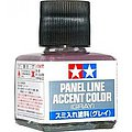 Panel Line Accent Color Gray -- Hobby and Model Enamel Paint -- #87133