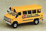 School Bus Safe Line -- HO Scale Model Railroad Vehicle -- #90076