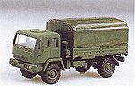 M1078 2-1/2-Ton Single Axle Flatbed w/Canvas Cover -- HO Scale Model Railroad Vehicle -- #90086