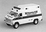 Metropolitan Ambulance w/Chevy Van Cab -- HO Scale Model Railroad Vehicle -- #90100