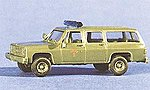 Air Force Fire Chief #1 Chevrolet Suburban Green -- HO Scale Model Railroad Vehicle -- #90110