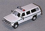 Chevy Suburban Park Ranger White & Green Stripe -- HO Scale Model Railroad Vehicle -- #90199