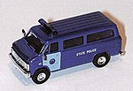 Chevy Van Mass State Police Blue & Light Blue Door -- HO Scale Model Railroad Vehicle -- #90201