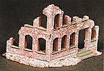 Resin Ruined Mansion -- HO Scale Model Railroad Building -- #99003