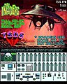 The Invaders UFO Decal Set -- Science Fiction Plastic Model Decal -- 1/72 Scale -- #101