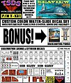 Seaview 8-Window Submarine Movie Version Decal Set for MOE -- Decal -- 1/128 -- #131