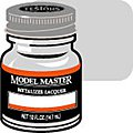 Model Master Aluminum Buff Metallic 1/2 oz -- Hobby and Model Lacquer Paint -- #1401
