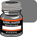 Model Master Gunmetal Buff Metallic 1/2 oz -- Hobby and Model Lacquer Paint -- #1405