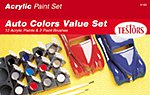 Acrylic Model Car Value Paint Set -- Hobby and Model Paint Set -- #9185