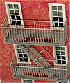 Classic Fire Escape - Kit (Plastic) -- O Scale Model Railroad Building Accessory -- #2044