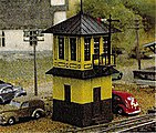 Wooden Signal Tower Kit -- N Scale Model Railroad Building -- #2601
