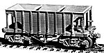 22' Wood Ore Car (2) -- HO Scale Model Train Freight Car -- #4012