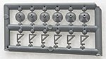 Light Fixtures (24) -- HO Scale Model Railroad Building Accessory -- #8170