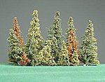 Alpine Forest Pine Tree Assorted .5'' to 6'' pkg(17) -- Model Railroad Tree -- #190